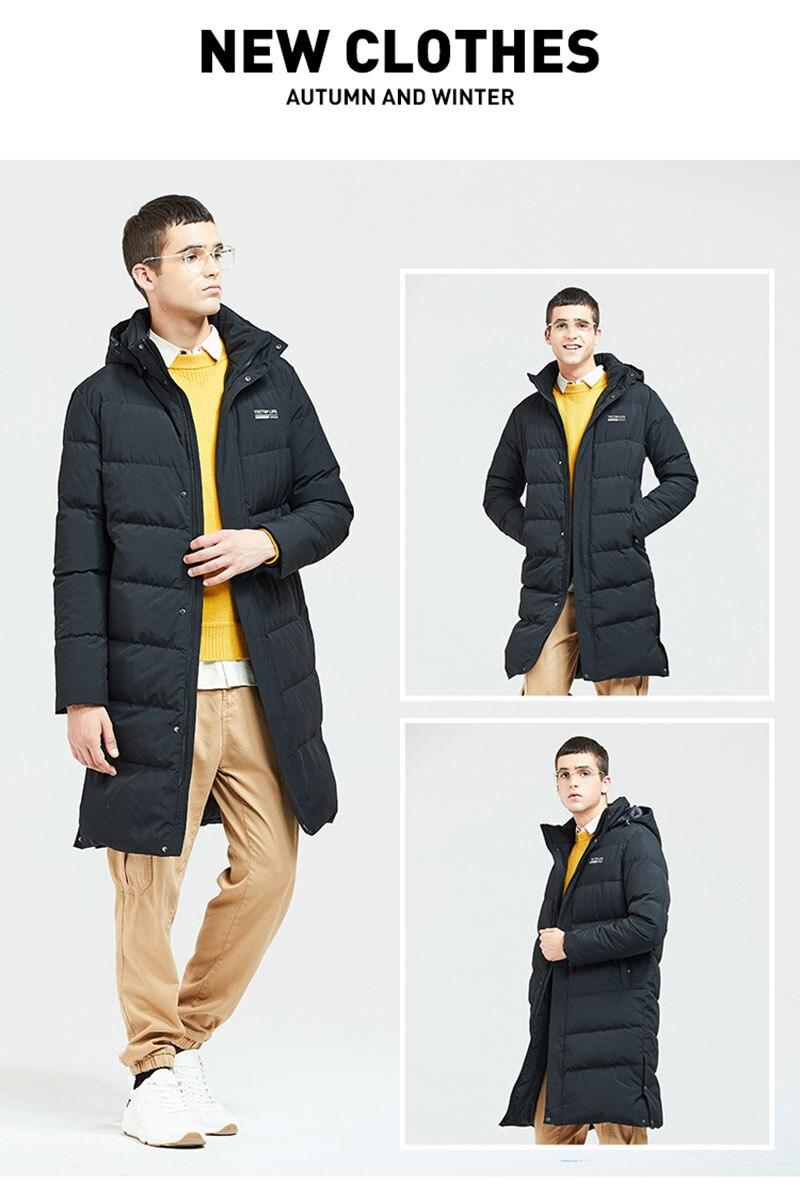 grosso para baixo jaqueta longa jaqueta masculina