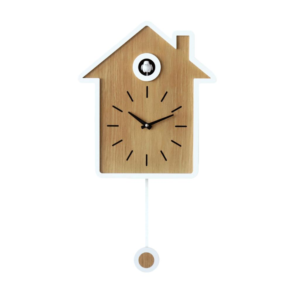 Cuckoo Clock Living Room Wall Clock Reset Bird Cuckoo Alarm Clock Watch Modern Brief Home Decorations Day Time Alarm
