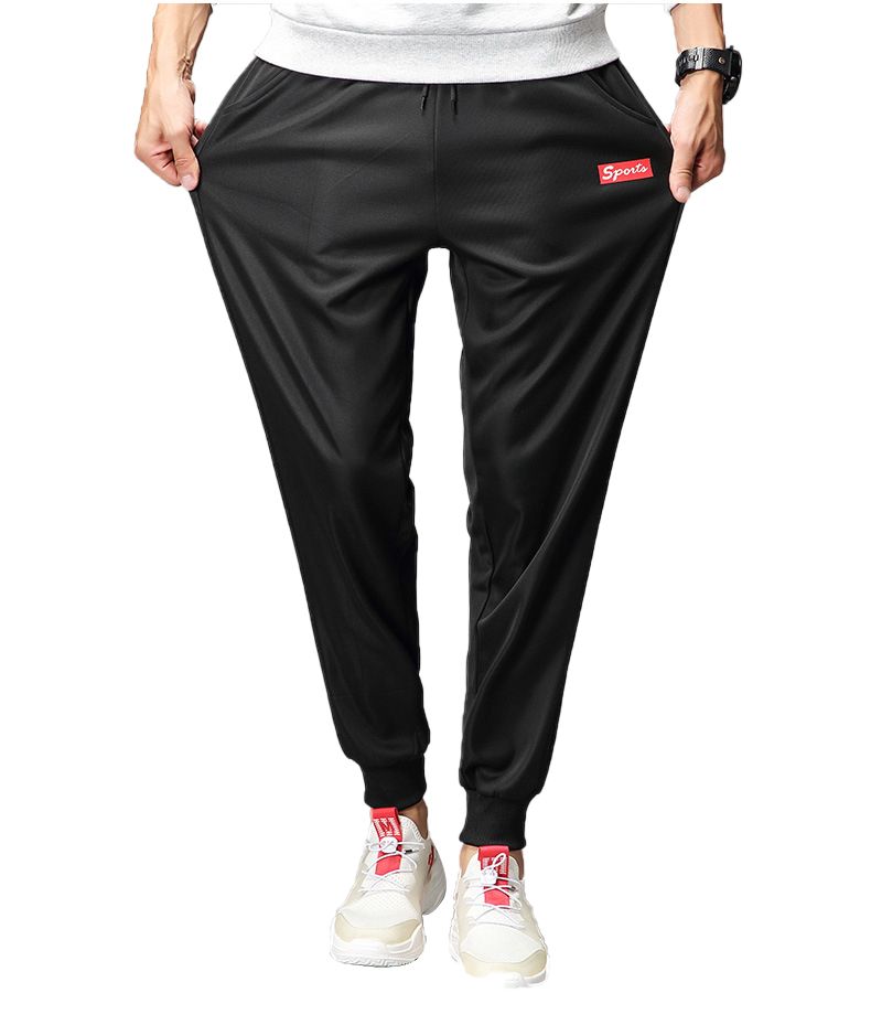 New Men's Casual Pants Ankle-Length Elastic Jogger Sports Fitness Clothing Sweatpants Men Spring Winter Long Pants Male