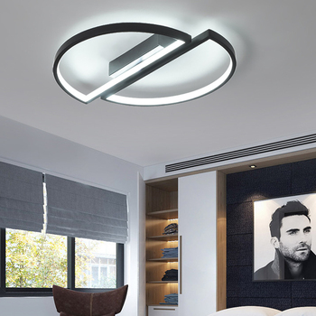 LED Panel Lamp Modern Ceiling Light Half Round Circle Surface Mounted Lamp Bedroom Living Room Ceiling Lamp Lights Home Decor 1