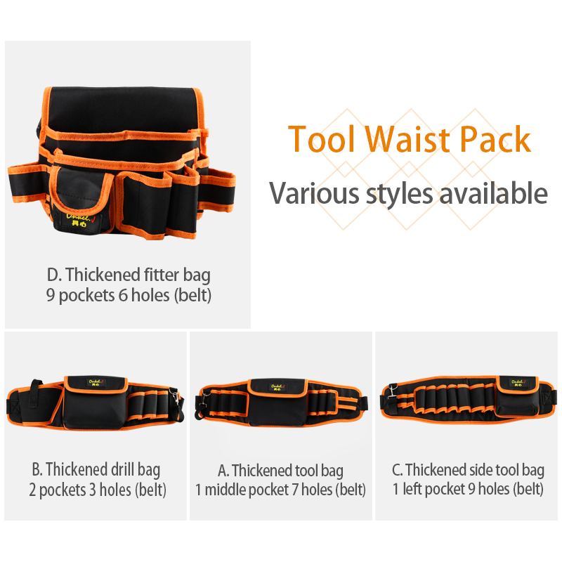 Closeout DealsBag Organizer Storage-Holder Belt Garden-Tool-Kits Waist-Pouch Electrician-Tools Multi-Functional