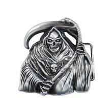Мужская пряжка для ремня grim reaper металлическая ремней высококачественные