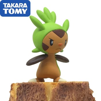 TAKARA TOMY Pokemon Doll Genuine MC Model Battle Chespin Model Collection ToyFor Children Toy Gifts image