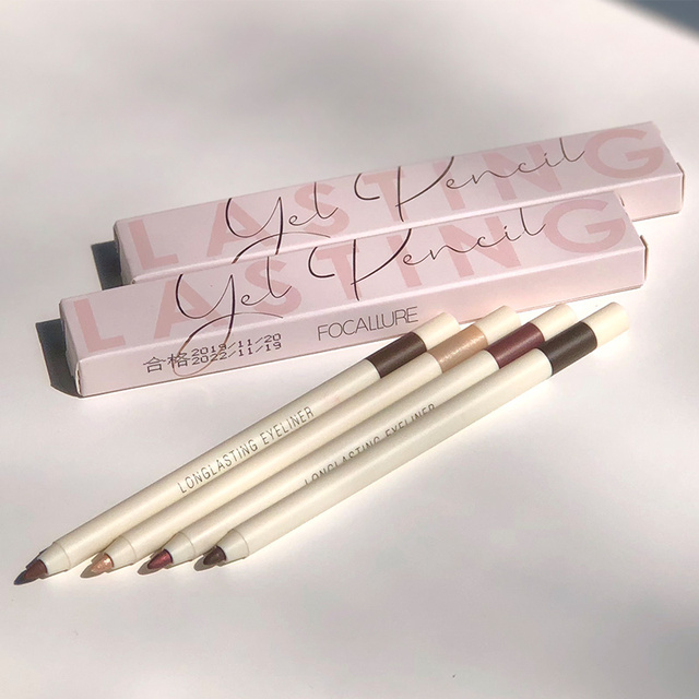 FOCALLURE Long-lasting Gel Eyeliner Pencil Waterproof Easy To Wear Black Liner Pen Eye Makeup Eye Liner 1