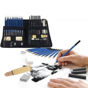 Image 4 - 48 Pcs/lot Sketch Drawing Tool Set Profession Painting Set Art Supplies Pencil Stick Eraser Knife Pencil Extender Sharpener