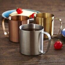 304 stainless steel beer mug 480ml sanding big water cup household goods