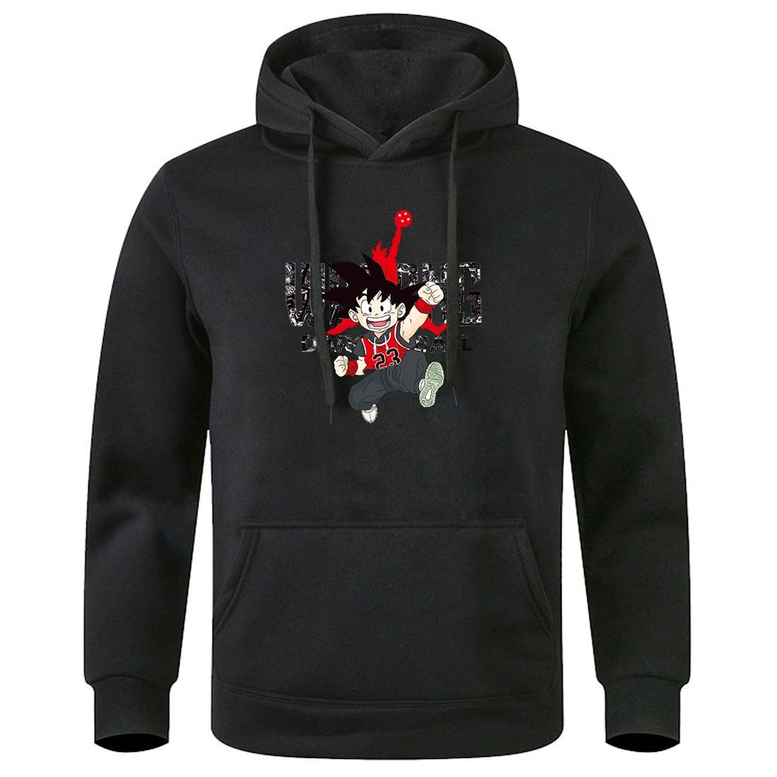 Mens Hooded Tops Dragon Ball Anime Hoodies 2020 Keep Warm Winter Spring Sweatshirt Male Round Neck Hoody Streetwear Tracksuits