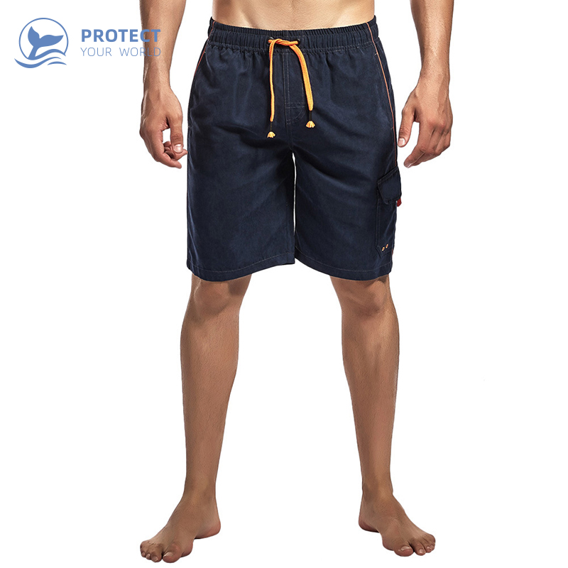 Men's multi-pocket jeanette sports casual beach pants Quick drying surf   shorts   Swimwear Beach   Board     Shorts   Swimming Pants