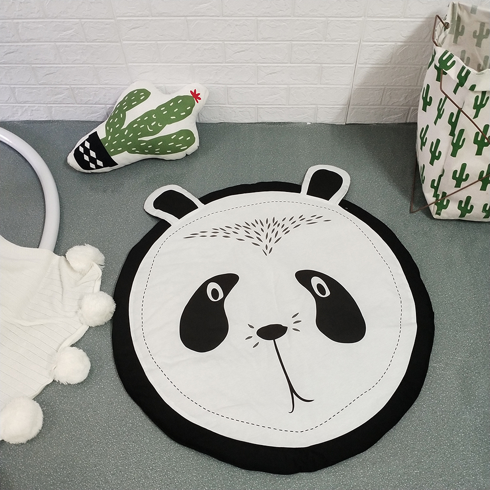 90CM Creative elephant Design Baby Play Mat Round Carpet Cotton Animal Playmat Newborn Infant Crawling blanket Kids Room Decor | Happy Baby Mama