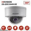 Hikvision ds 3MP Mini Dome PTZ Macchina Fotografica del IP di 4X Zoom 2.8-12mm Slot SD Card Audio PoE Onvif Outdoor CCTV di Sorveglianza DS-2DE3304W-DE