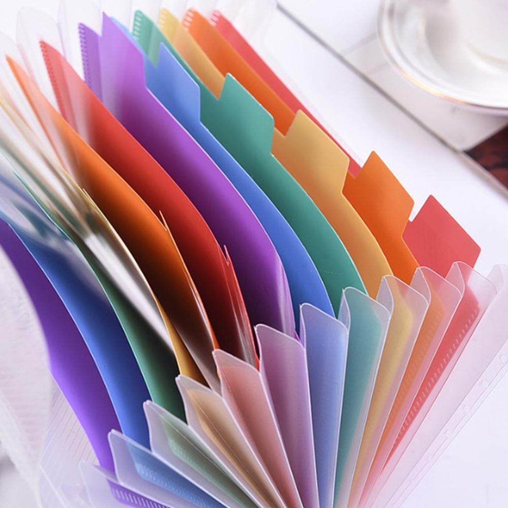 A6 File Folder, 13 Pockets Rainbow Expanding Folder Accordion Folder Organizer For Files Documents Cards Certificates Storage