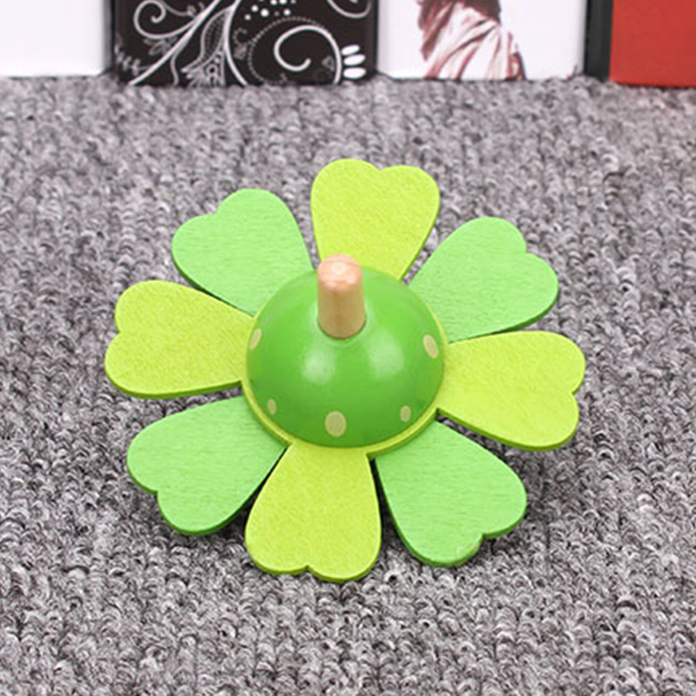 Learning Educational Kids Baby Top Classic Spinning Flower Rotate Wooden Toy Develop Intelligence Educational Toy Children Gift