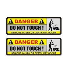 Perigo quente etiqueta do carro interessante não toque capa arranhões adesivos de carro para pára-choques vinil decalque auto exterior16 * 5cm