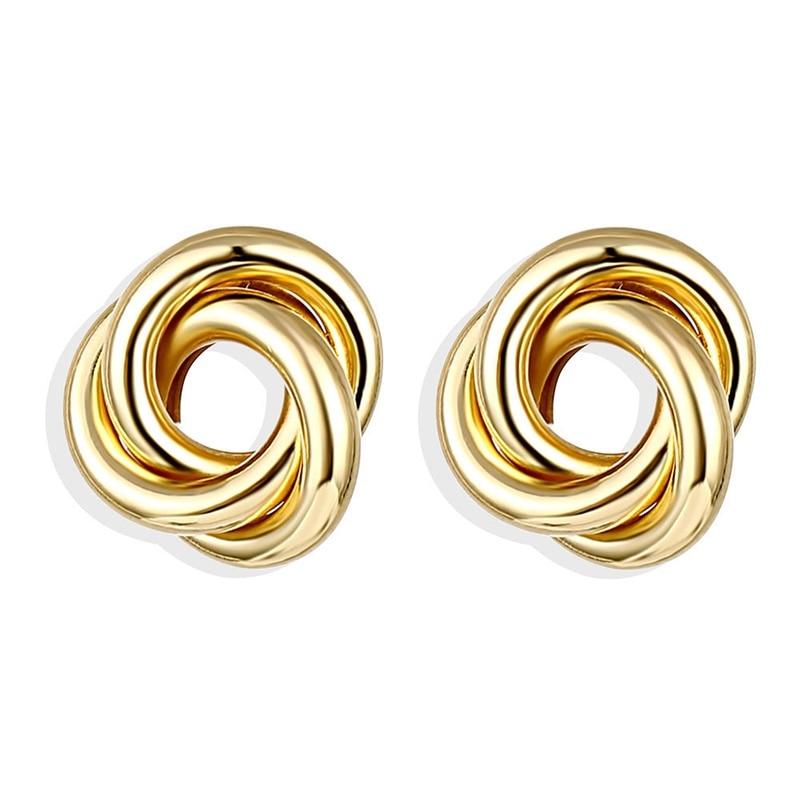 IPARAM, новинка, большие круглые серьги-кольца для женщин, модные, массивные, золотой, в стиле панк, очаровательные серьги, вечерние ювелирные изделия - Окраска металла: IPA0101-6