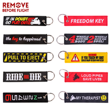 Car Keychain Embroidery Loud pipes SAVE LIVES Customzied llavero coche key ring Black holder Tags For Motorcycles Cars Gift
