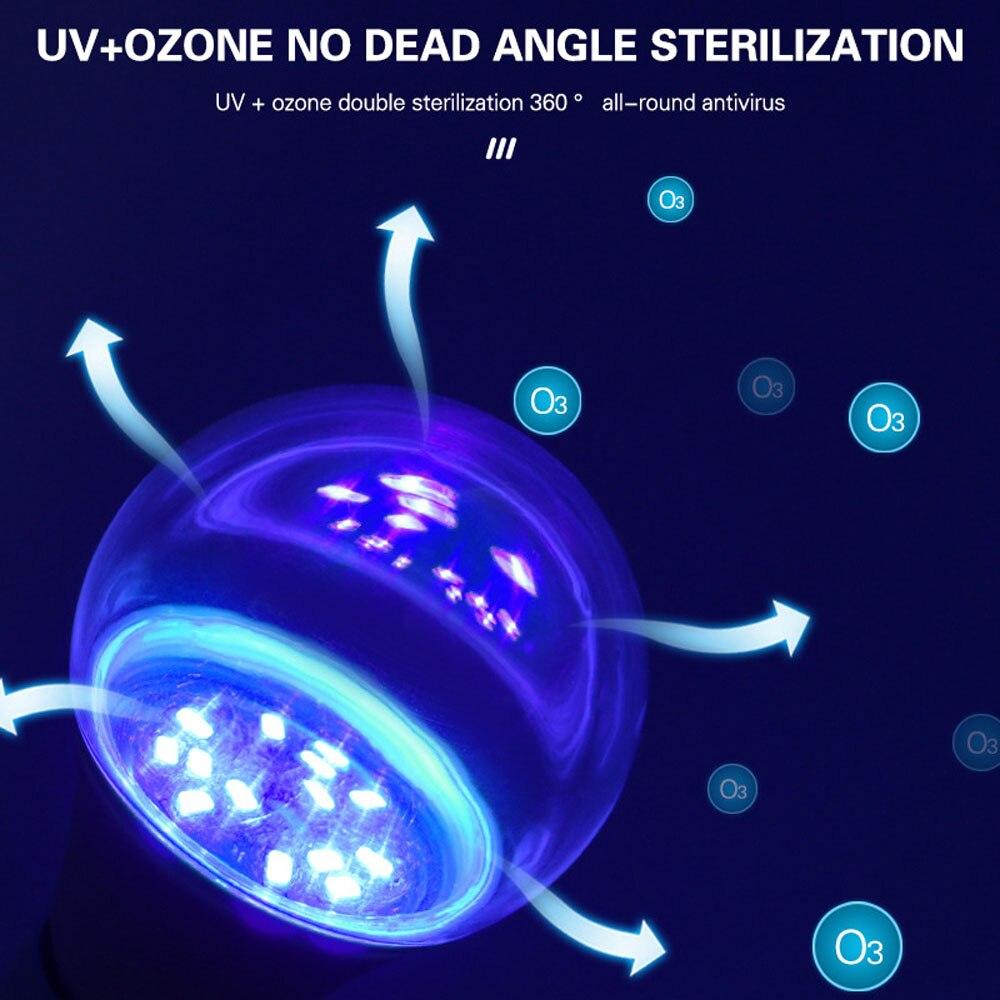 E27 Germicidal Light UVC Lamp Sterilizer  Disinfection Lamp UV 9W  LED UV Desinfection Lamp GU10 LED Ultraviolet Light Bulb