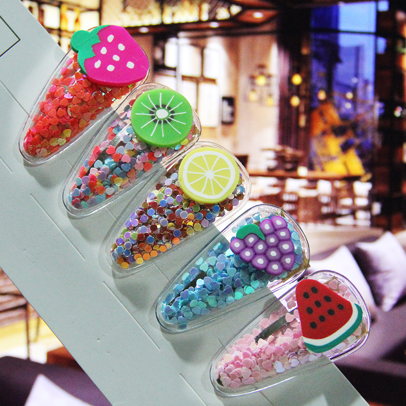 Fruit Hair Clips For Girls Kids New Transparent Hairpin Fashion Sweet Children Simple Pvc Bb Clips Ins Hair Accessories