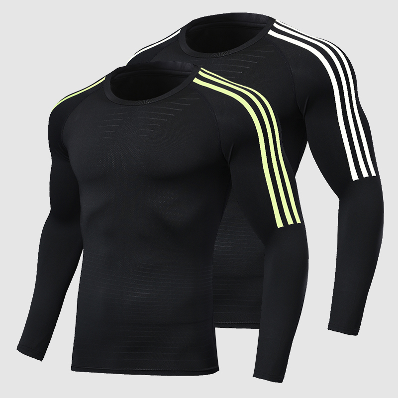 Men's Running Shoes T-Shirts, Quick Dry Compression Sport T-shirts, Fitness Gym Running T Shirts, Men's Soccer Jersey Sportswear