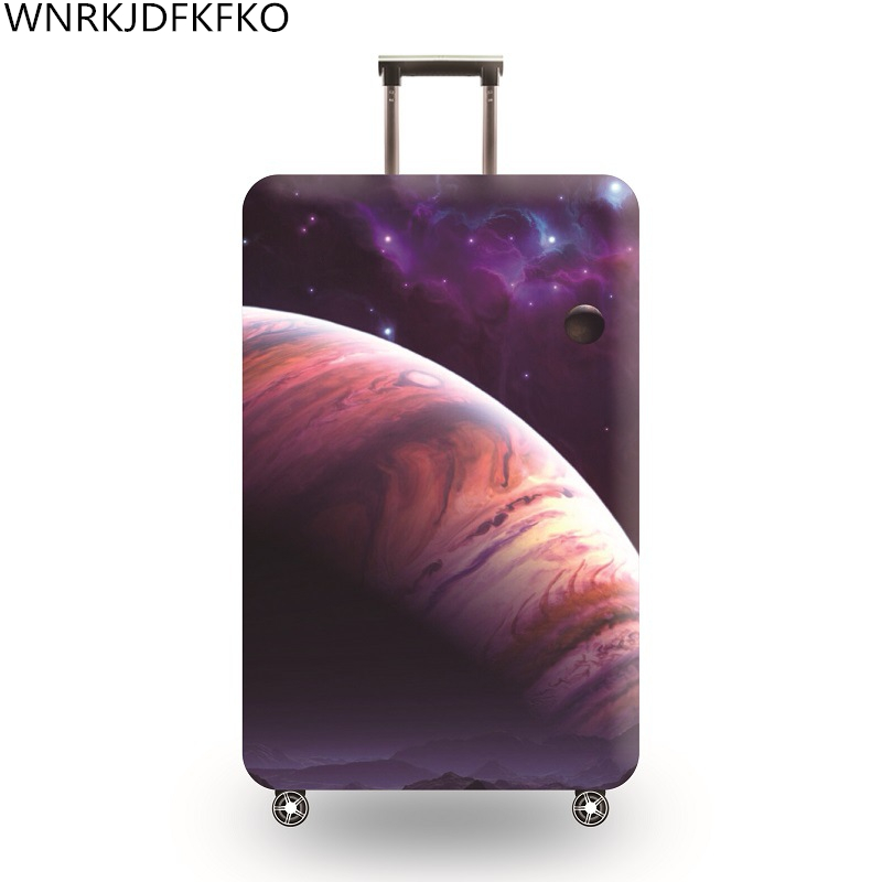 Travel Around The World Luggage Protective Covers Protector Thick Elastic Liner For Suitcase For 18