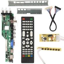 3663 جديد الرقمية DVB C dvb t/T2 لوحة تحكم شاملة في التلفزيون الإل سي دي LED التلفزيون تحكم لوحة للقيادة 7 مفتاح زر الحديد يربك حامل 3463A الروسية