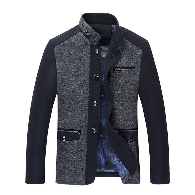 Men Coat Winter Wool Caot Erkek Kaban Fashion Business Thicken Slim Overcoat Jacket Male Peacoat Brand Clothes