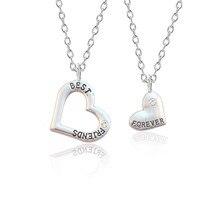 Collier meilleurs amis pour femmes et filles, Puzzle en cristal, pendentif ajouré, collier Bff amitié éternelle, 2 pièces/ensemble