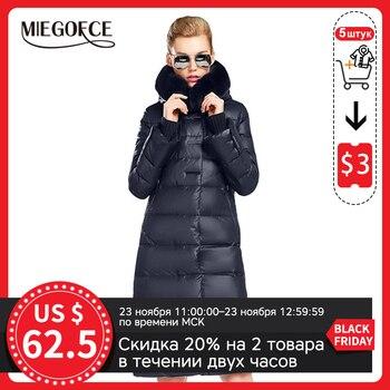 MIEGOFCE – Veste manteau mi-longue pour femme, parka avec fourrure de lapin, vêtement épais, nouvelle collection tendance hiver 2020 1