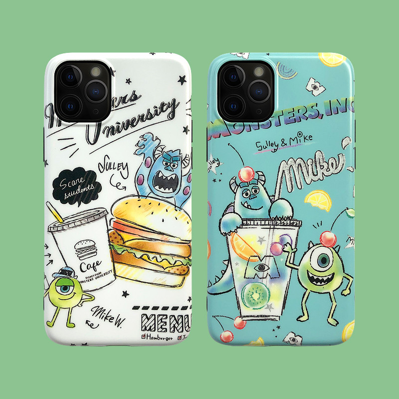 Cute Cartoon <font><b>Toy</b></font> <font><b>Story</b></font> Three Eyes Alien Burger Phone Case For <font><b>iPhone</b></font> 11 Pro max 7 <font><b>6</b></font> 6s 8 Plus X XS MAX XR Monsters Fundas <font><b>Capa</b></font> image