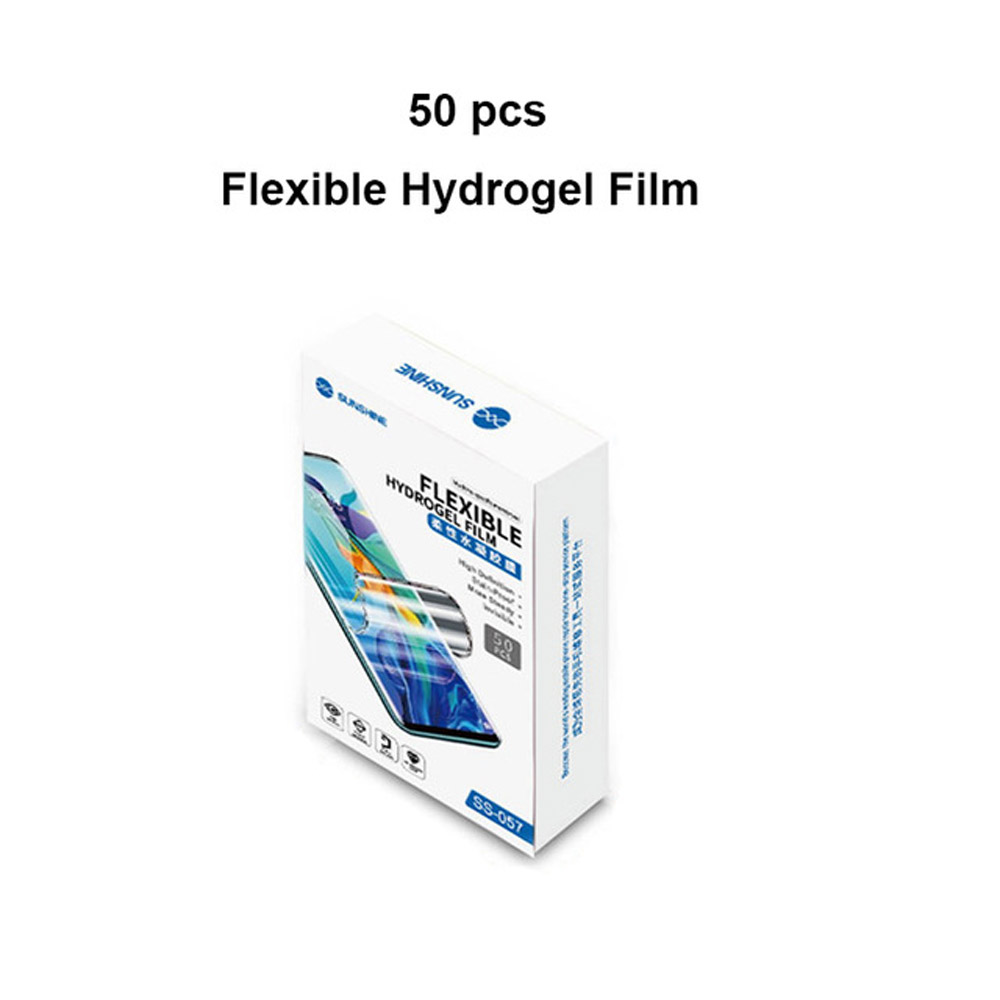 SS Film 50pcs Film Mobile Cut 057 SS Phone Screen Machine Back Auto 890C  Film Front Cutting For  Hydrogel Lot Flexible Sunshine