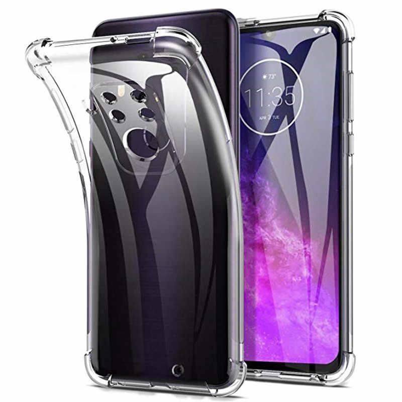 Olhveitra Dành Cho Motorola Moto G7 G6 Chơi Điện P40 Z4 Z3 E5 Chơi Điện G5S G5 G4 E5 E4 g6 G7 Plus Ốp Lưng Mềm Mại Trong Suốt