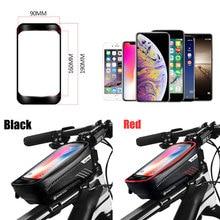 Bicycle Bag Waterproof Front Bike Cycling Bag 6.2 inch Mobile Phone