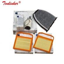 Filtro de cabina + filtro de aire + filtro de aceite, conjunto de 4 Uds. Para Mercedes benz SL R231 400 Convertible 2003 2012