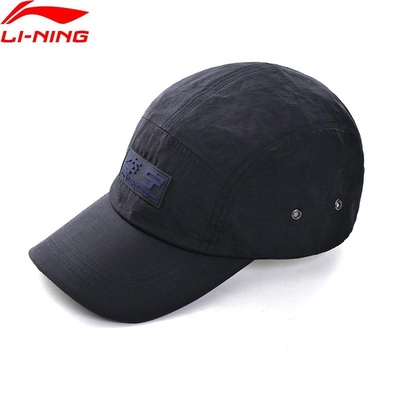 Li-Ning Unisex Men Women Sports Caps Size 56-60cm 100% Polyester Breathable Adjustable String LiNing Li Ning Hats AMYQ022 PMQ097