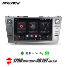 DSP 9Android 10,0 8 Core Carplay 4G LASSEN SIE 4GB RAM 128GB ROM Auto DVD Player GPS WIFI bluetooth TPMS RDS Radio Für Camry 2007 2011