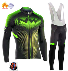 2018 Northwave Pro Team Winter Cycling Clothing Breathable Ropa Ciclismo Long Sleeve MTB Bicycle Clothing Outdoor Sport Clothes w Zestawy rowerowe od Sport i rozrywka na
