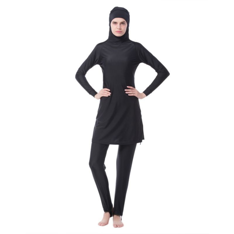 2019 Softy Fashion Female  Split Quick-drying Muslim Conservative High Waist Swimwear Slim Casual Swimsuit T