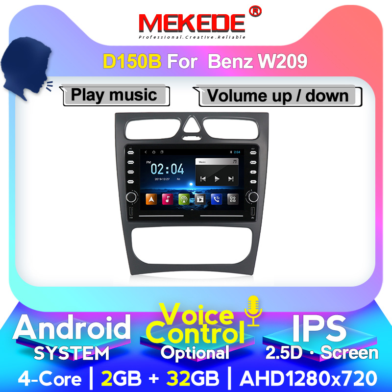 MEKEDE 1024X600 Android <font><b>Car</b></font> DVD Player For <font><b>Mercedes</b></font> Benz CLK W209 W203 W463 <font><b>W208</b></font> Wifi 4G <font><b>GPS</b></font> Bluetooth <font><b>Radio</b></font> Stereo audio media image