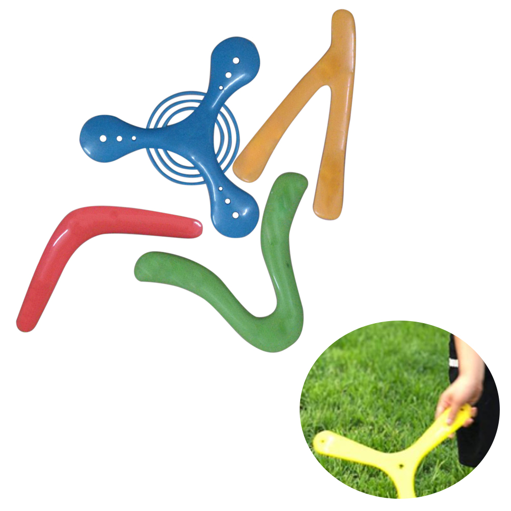 4pcs/set Magic Recreational Boomerang Toy Playing Outdoor Sports Catching For Children Flying Disc Gift Funny Returning V Shaped