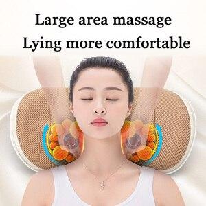 Image 3 - U shape massage pillow Massager for neck waist Cervical Shiatsu Massage Cushion Heating relax back massager electric reflexology