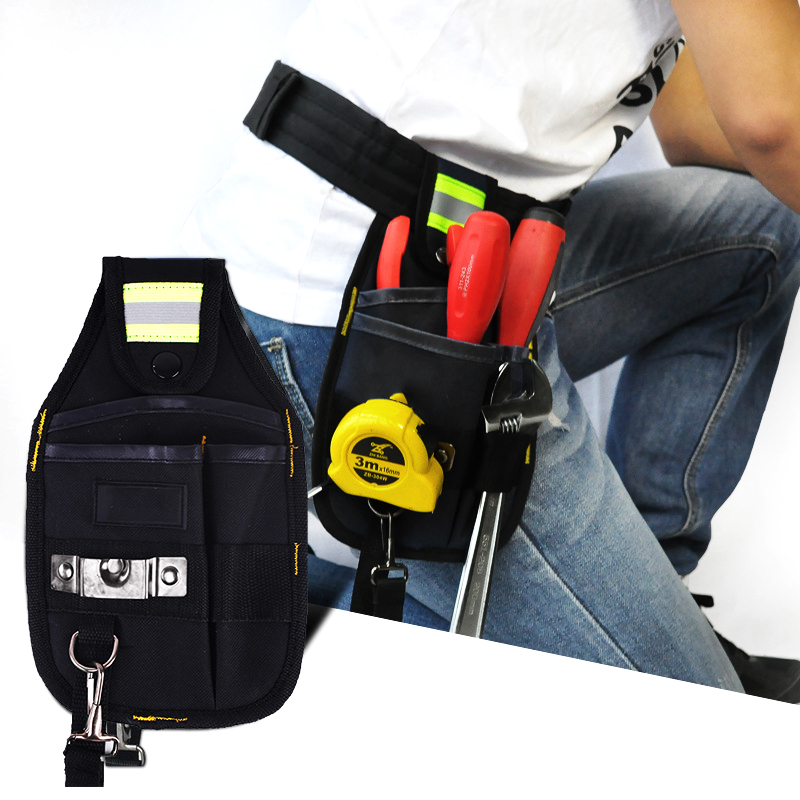 Strong Oxford Cloth Tool Bag And Thicken Design Wear Waterproof Electrician Wide Tool Belt Holder Kit Tools Pouch With Pockets