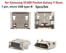 USB 充電サムスン S5300 ポケット S5360 S5380 S5570 S5610 S6102 銀河 Y デュオ、 S6802 7 ピン、マイクロ usb タイプ-B