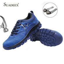 SUADEEX Men Safety Work Shoes Sneakers Construction Working Shoes Boots Security Steel Toe Shoe Women Anti-Impact Safety Boots ce certification rubber men and women safety work shoe covers oil slip resistant specialized works shoes light steel toe shoe