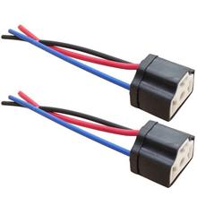 2個H4 9003セラミック配線ヘッドライト車の電球ランプハーネス3穴ソケット車の内部ランプアクセサリー