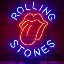 Custom Rolling Stones Beer Glass Neon Light Sign Beer Bar