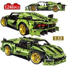 Mini şehir yaratıcı sürüklenme yarış araba modeli yapı taşları teknik süper spor araç MOC tuğla eğitim oyuncaklar çocuklar için