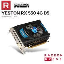 Yeston Radeon RX 550 GPU 4GB GDDR5 128bit Gaming Desktop computer PC Video Graphics Karten unterstützung DVI-D/HDMI/DP PCI-E 3,0