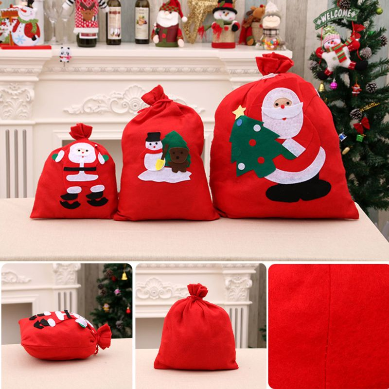 Christmas Gift Candy Storage Bag Xmas Decoration Present Organizer F42A