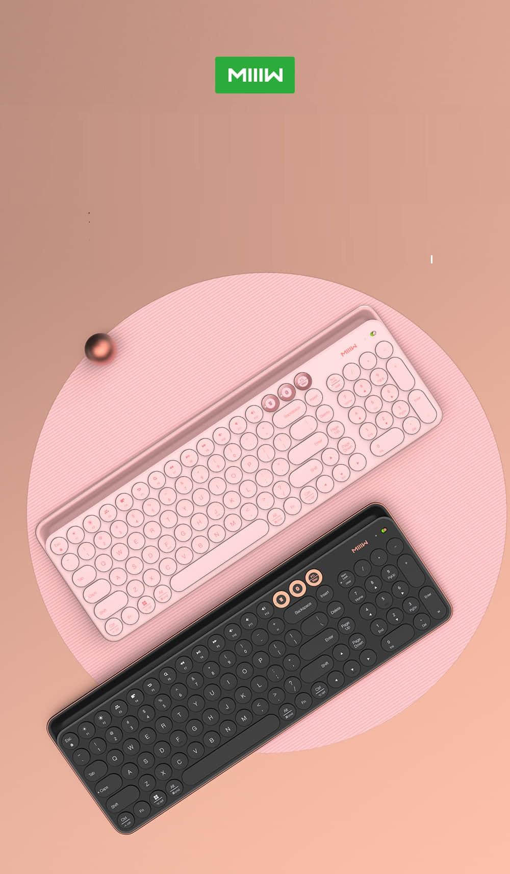 Miiiw Wireless Bluetooth Dual-mode Keyboard -Black