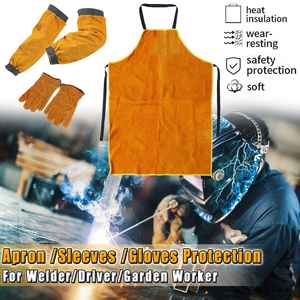 Welding Apron Sleeves-Gloves Shoe-Cover Workwear Blacksmith Protection Thorn-Proof Gardening
