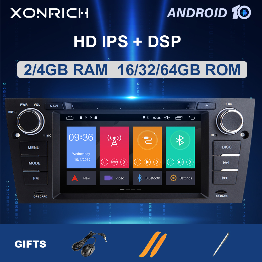 IPS DSP 1 Din Android 10 samochodowe Multimedia nawigacja GPS dla BMW E90/E91/E92/E93 serii 3 Radio Stereo audio dvd ekran 4GB 8 rdzeń